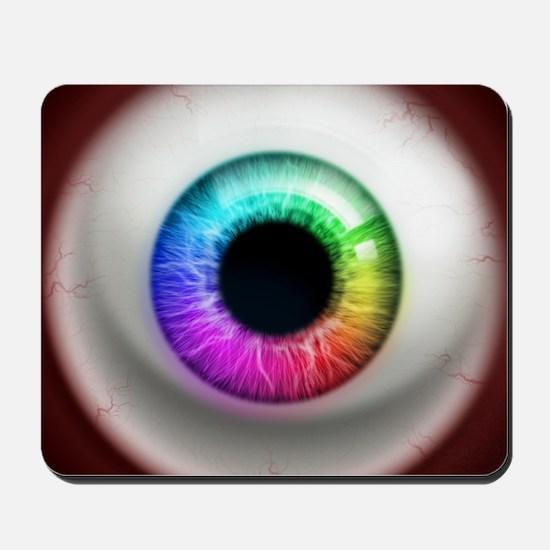 16x16_theeye_rainbow Mousepad