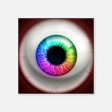 "16x16_theeye_rainbow Square Sticker 3"" x 3"""