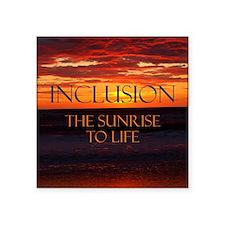 """sunrise-a Square Sticker 3"""" x 3"""""""