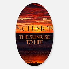 sunrise-a Sticker (Oval)
