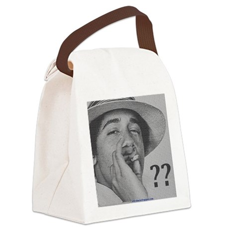 Obama Smoking Canvas Lunch Bag