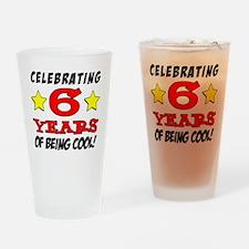 Celebrating 6 Years Drinking Glass