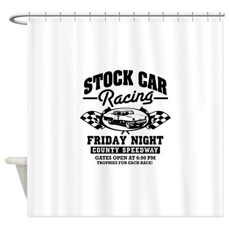 Stock car racing shower curtain by admin cp41207497 for Race car shower curtain