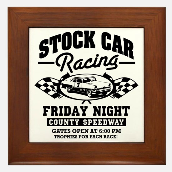 Stock_Car_Racing Framed Tile