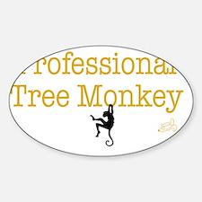 tree monkey Sticker (Oval)