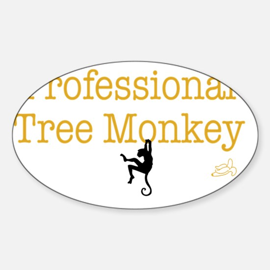 tree monkey Sticker (Oval)