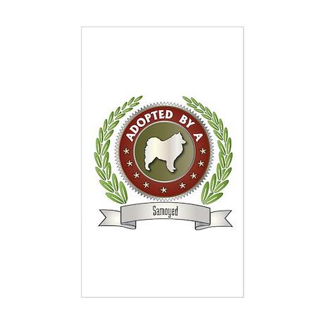 Samoyed Adopted Rectangle Sticker
