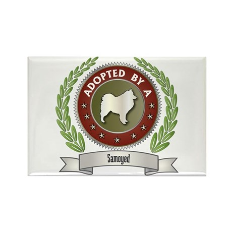 Samoyed Adopted Rectangle Magnet (100 pack)