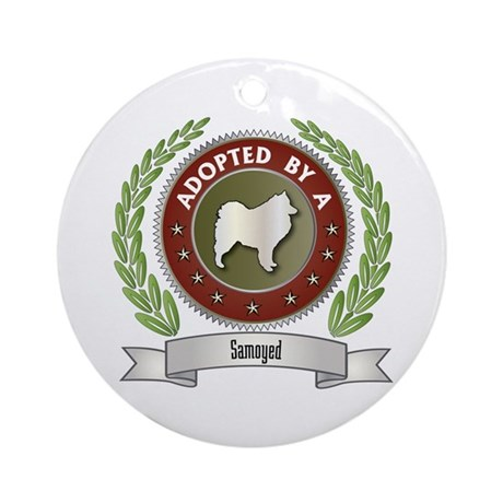 Samoyed Adopted Ornament (Round)