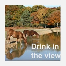 Drink in the view Tile Coaster