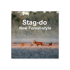 "Stag do Square Sticker 3"" x 3"""