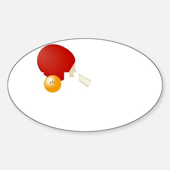 gotservedTabletennis2 Sticker (Oval)