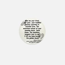 Lazarus Liberty Quote Mini Button