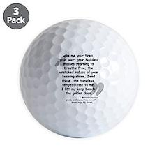 Lazarus Liberty Quote Golf Ball