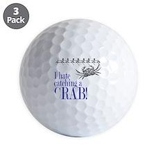 i hate catch a crab V2 Golf Ball