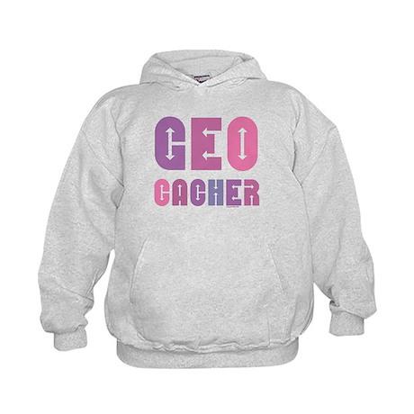 Geocacher Arrows in Pinks Kids Hoodie