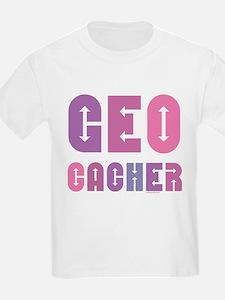 Geocacher Arrows in Pinks Kids T-Shirt