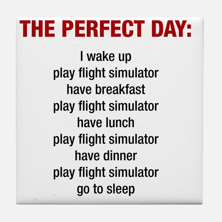 Perfect Day Tile Coaster