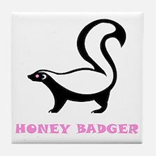 honeybadgerhbpinkbd Tile Coaster