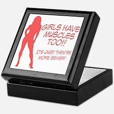 girls-have-muscles-too Keepsake Box