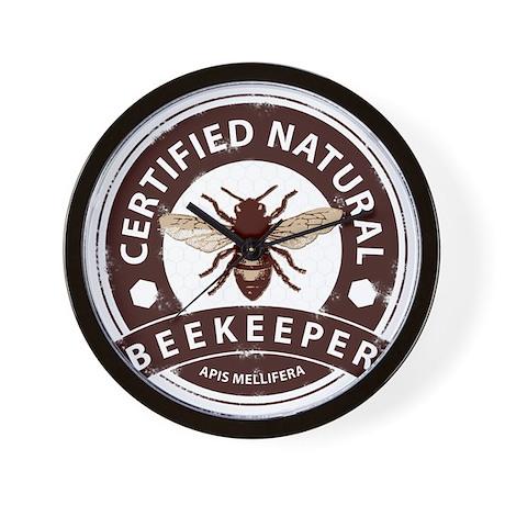 Certified Natural Beekeeper Wall Clock