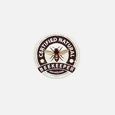 Certified Natural Beekeeper Mini Button