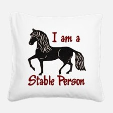 StablePersonLt Square Canvas Pillow