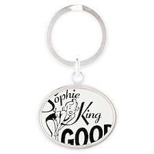 SophieKingGood black Oval Keychain