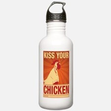Kiss Chicken (4poster) Water Bottle