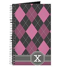 441_argyle_monogram_rose_x Journal