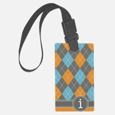 441_argyle_monogram_orange_i Luggage Tag