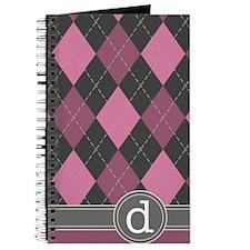 441_argyle_monogram_rose_d Journal