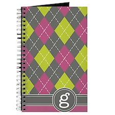 441_argyle_monogram_pink_g Journal