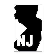 NJ Rectangle Car Magnet