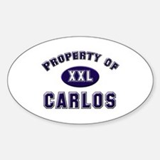 Property of carlos Oval Decal