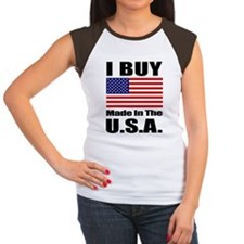 FlagStraightSquare.gif Women's Cap Sleeve T-Shirt