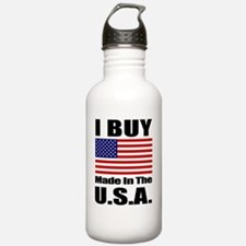 FlagStraightSquare.gif Water Bottle
