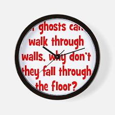 ghosts2 Wall Clock