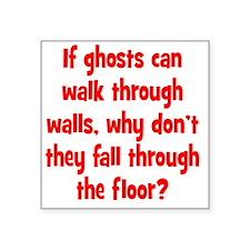 "ghosts2 Square Sticker 3"" x 3"""