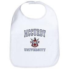 MCCURDY University Bib