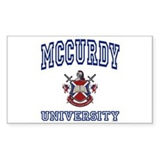 MCCURDY University Rectangle Decal