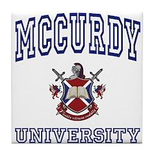 MCCURDY University Tile Coaster