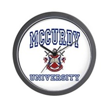 MCCURDY University Wall Clock