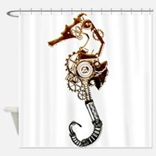 Industrial Sea Horse Shower Curtain