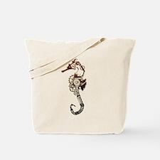 Industrial Sea Horse Tote Bag