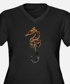 Industrial Sea Horse Plus Size T-Shirt