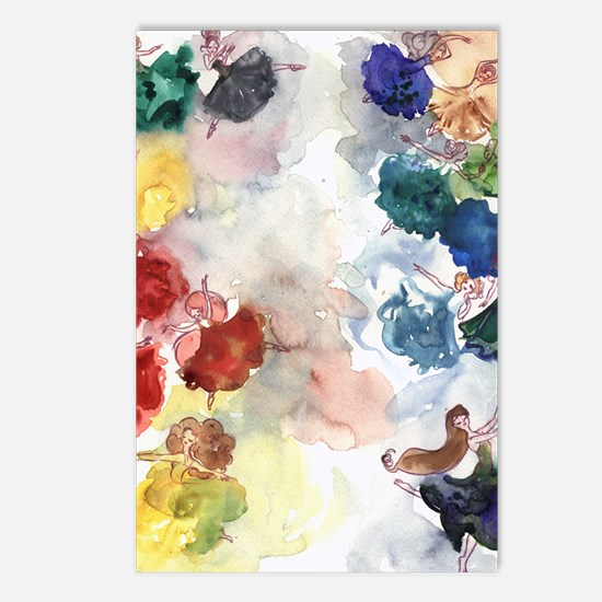 Watercolor Tutus Postcards (Package of 8)