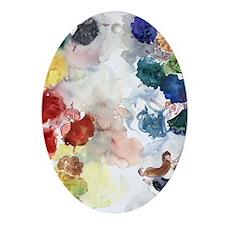 Watercolor Tutus Oval Ornament