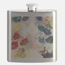 Watercolor Tutus Flask