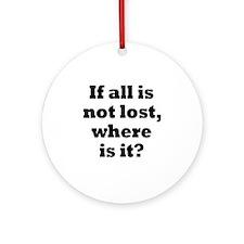lost1 Round Ornament